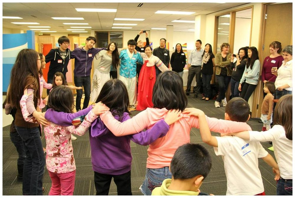 Teaching a traditional Korean dance at KORAFF (Korean Adoptee Family Foundation), a non-profit organization I founded