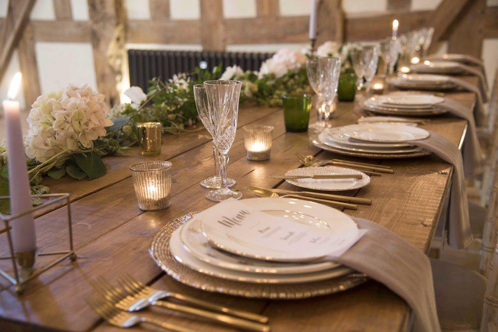 Gold and white settings for wedding breakfast.jpg