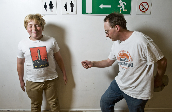 Jon Ronson (and son)