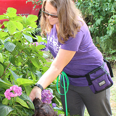 Dog Trainer, Anna, Conducting Nose Work Training