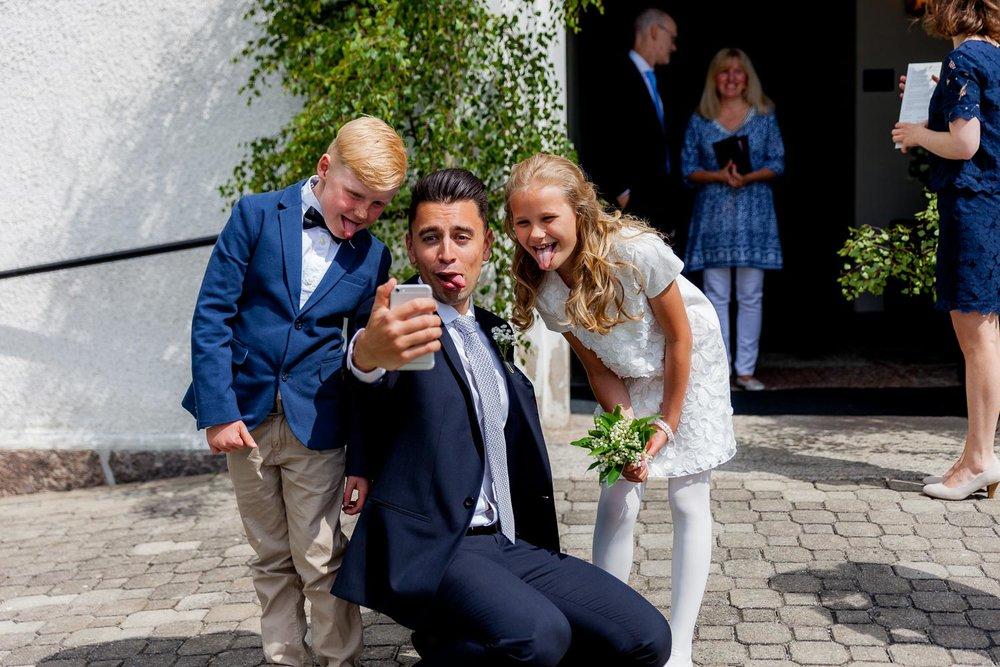 Bröllopsselfie