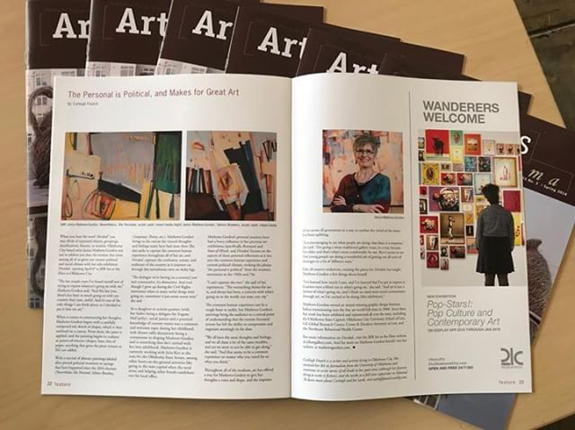 Pages 22-23 of OVAC's ArtFocus #Oklahoma magazine!  #art #arts #visualart #artislife #artistlife #okc #artshow #artwork