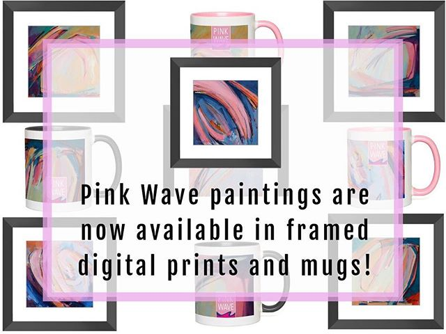 MathewsGordon.com/shop - Pink Wave #paintings are now available in framed digital prints and mugs!  This series celebrates the record number of women running for elected office in 2018.  All orders include FREE Standard Shipping! Check them out or make a purchase at MathewsGordon.com/shop