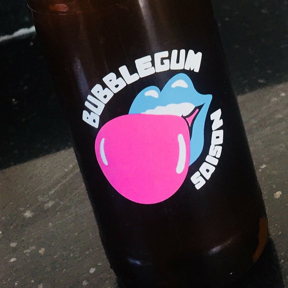 Local brewery Two Tribes over in Horsham have come up with this funky Bubblegum Saison which has to be tasted to believed and loved... Super zingy and not as sickly as you'd think... strawberry and apple to the tongue... This is magic in a bottle and we've only got 1 crate left... Once it's gone... IT'S GONE...