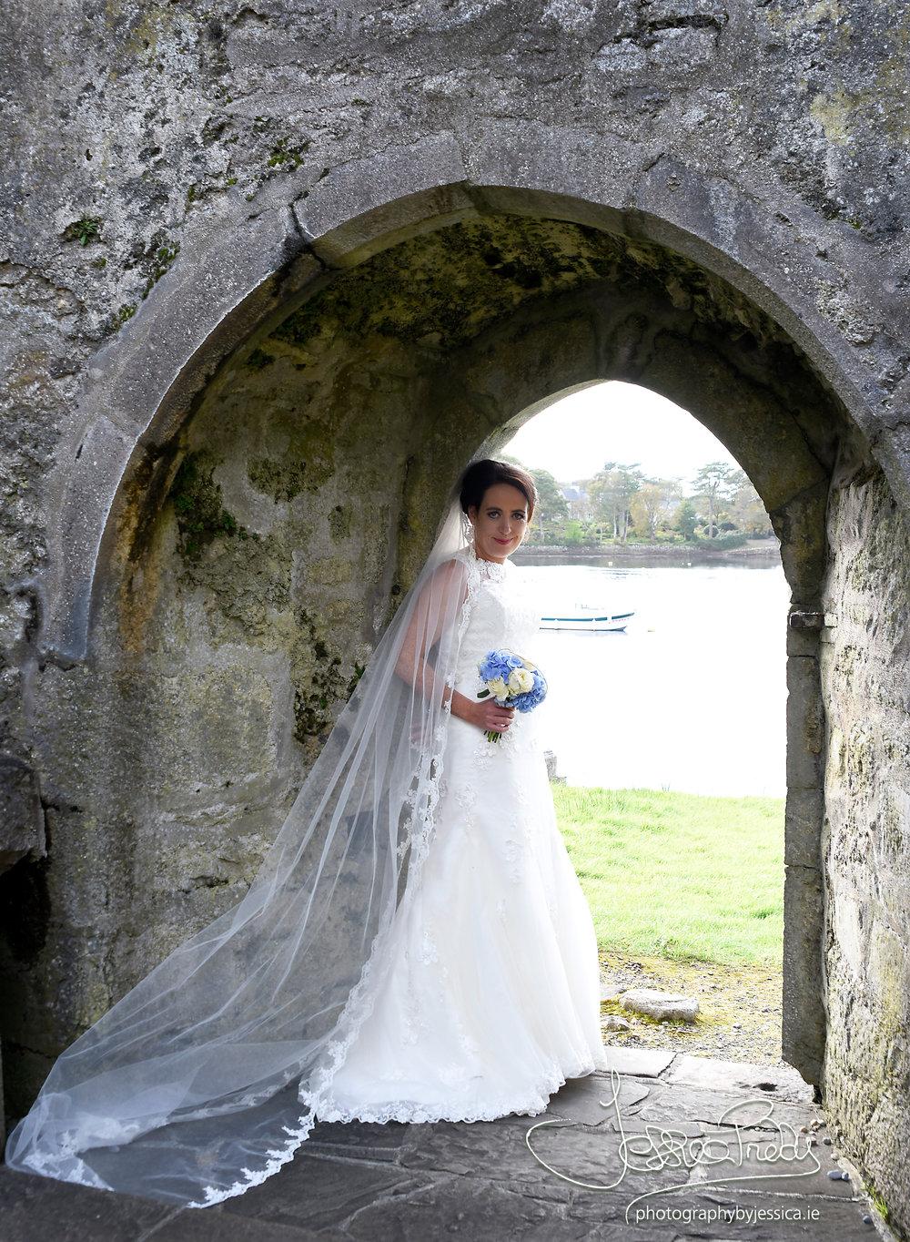 A Bride in her Wedding Dress
