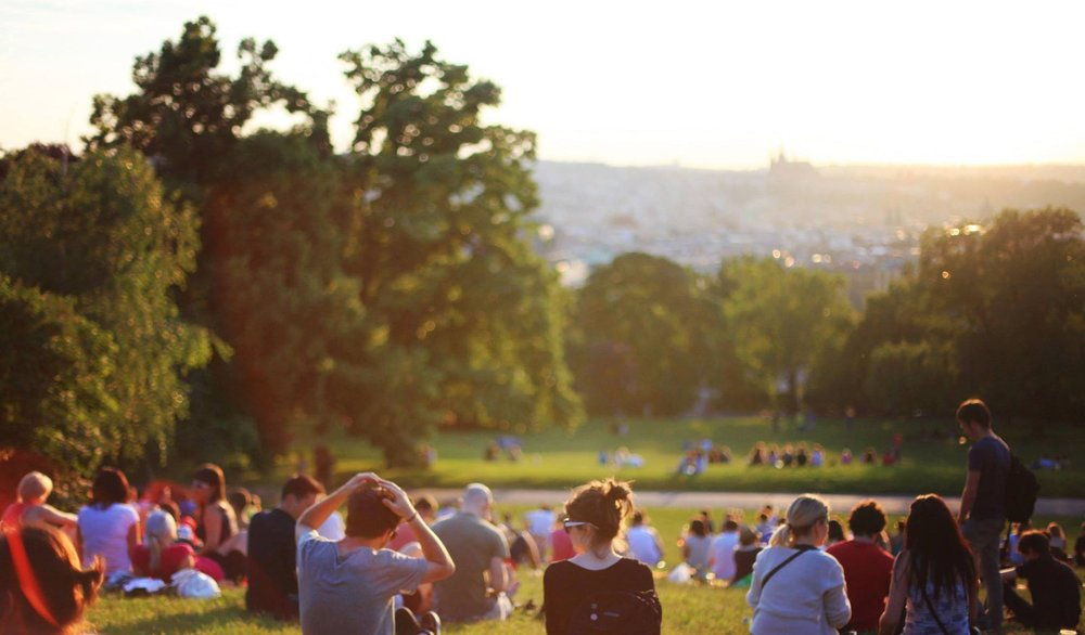 Primrose Hill is an amazing green space with a view of the city skyline!