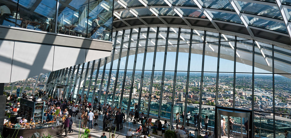 View from inside the well renowned Sky Garden