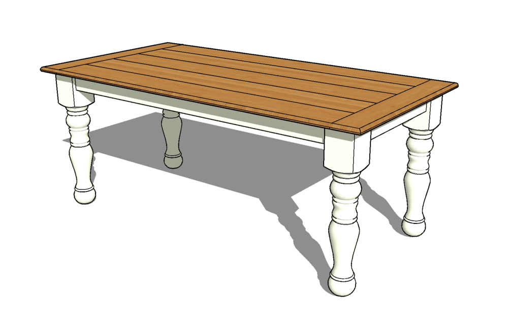 A SketchUp model helps both my customer and me visualize what the piece will look like.