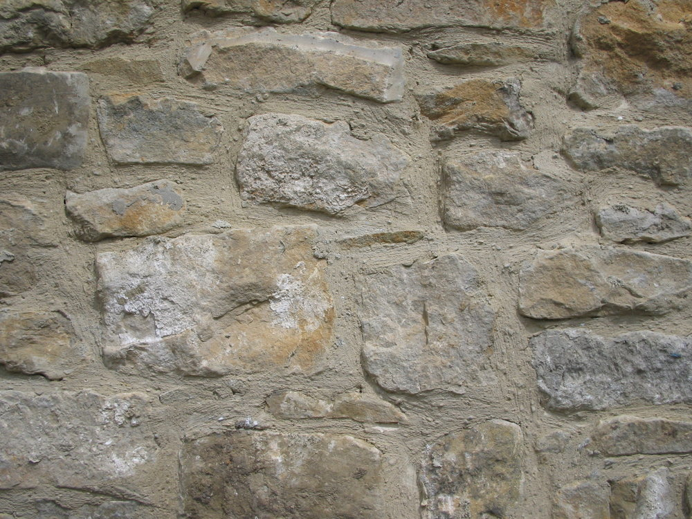 Random rubble stone walls often found in the North East of England.