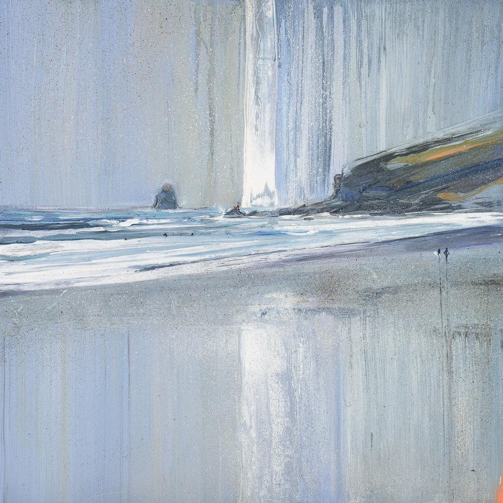 Wet Sand Reflection - Tregardock