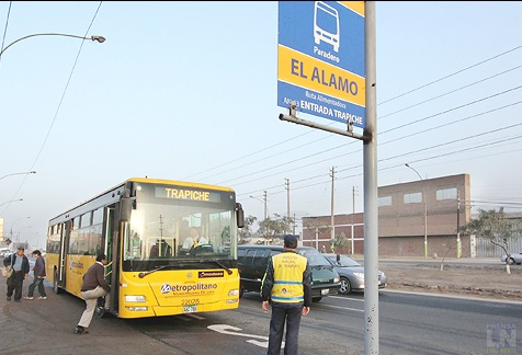 The yellow buses cover Northern & Southern Lima.  Credit: APLN