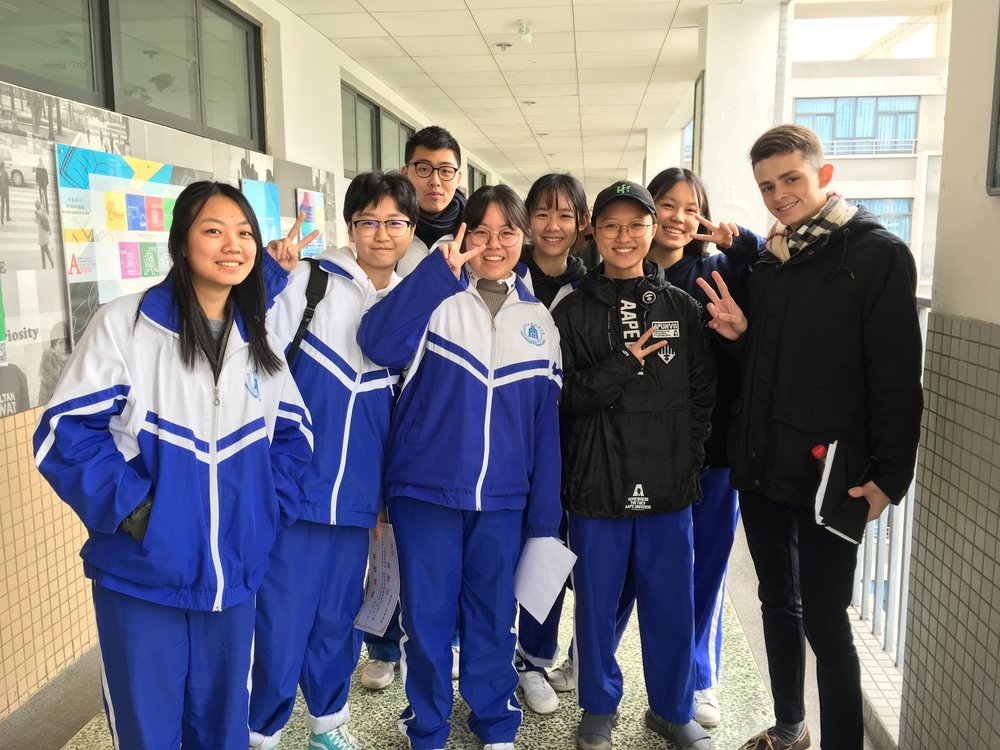 After teaching high school students in China about culture in the United States!