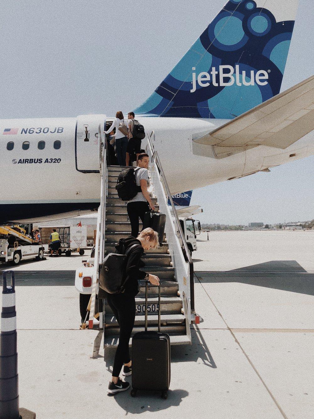 Woman Boarding Flight
