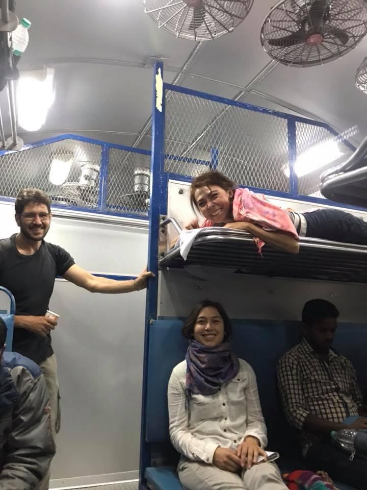 Hyderabad to Chennai train. Photo cred: Zoe McGrath