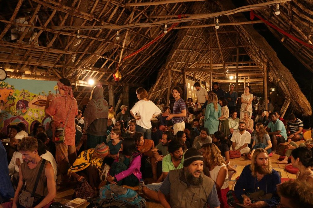 Sadhana Forest tour and dinner. Photo cred: Zoe McGrath