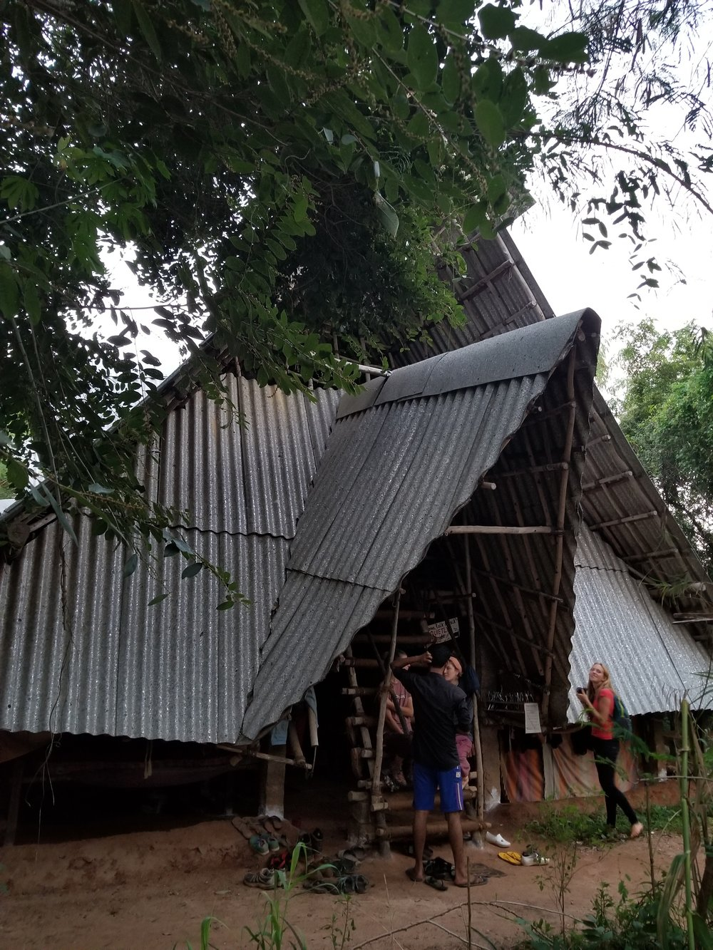 Sadhana dormitory roof made of 100% recycled material
