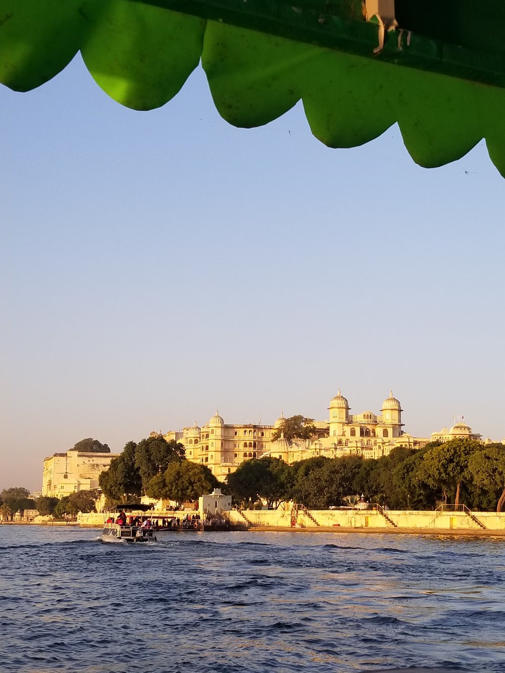City Palace view from boat