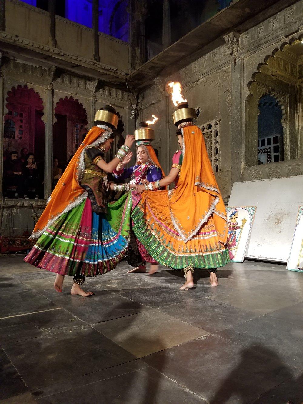 cultural show at Bagore Ki Haveli
