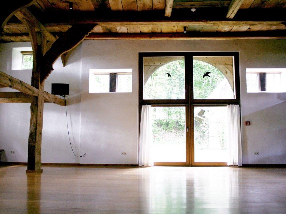 Seminarhaus Hof Laig, der gut ausgestattete Seminarraum bietet viele Möglichkeiten