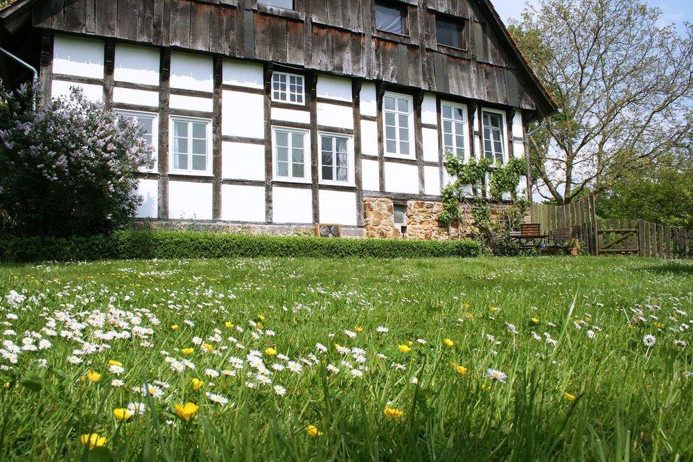 Seminarhaus Hof Laig, Garten, Teutoburger Wald