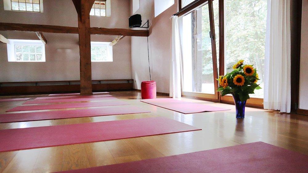 Seminarhaus Hof Laig, Seminarraum, Yoga