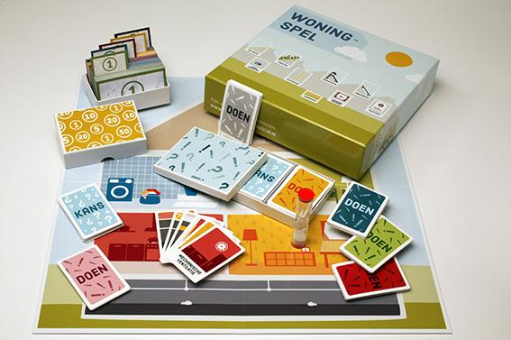 het woning spel is ontworpen voor workshops en om collectieve inkoop te organiseren