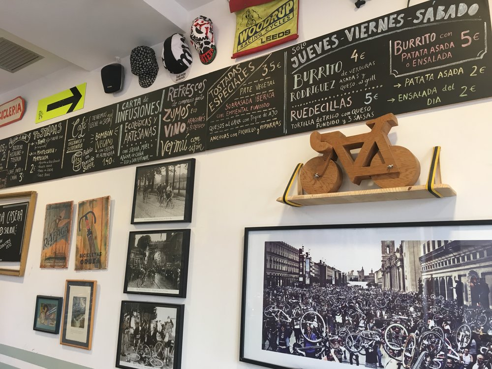 Bike cafe Zaragoza