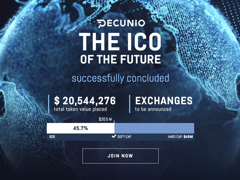 Pecunio - The first ICO in the world to launch a fully gold-backed token on the blockchain.