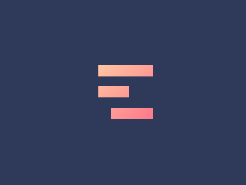 Brand with color gradient