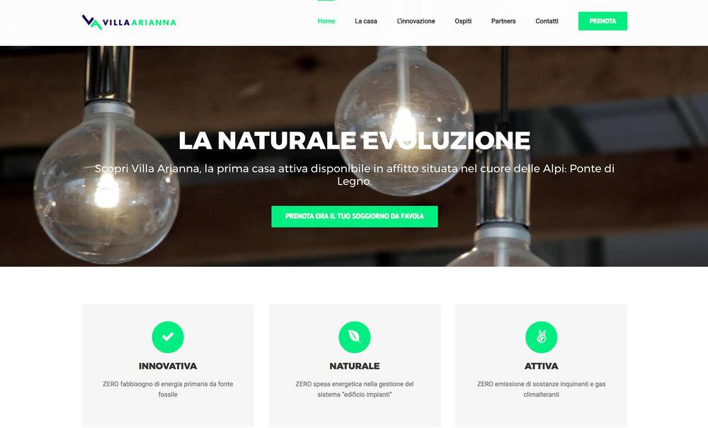 Villa Arianna web site