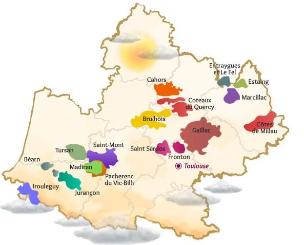 DIE REGION - Gaillac ist eines der ältesten Anbaugebiete Frankreichs. Die Weinkultur wurde von den Phöniziern um das Jahr 400 vor Christus eingeführt.Heute zeigt sich dieses Gebiet sehr dynamisch. Die Winzer sind engagiert, um das Niveau Gaillacs, welches seinen AOC Status 1970 erhalten hat, ständig zu erhöhen. Sie haben sich der Herstellung von Qualitätsweinen und weg von Massenherstellung, voll und ganz verschrieben.Gaillac ist bekannt für seine vielen verschieden Rebsorten. Historisch sind 24 bekannt. Folgerichtig ist man in Gaillac in der Lage jede Weinsorte herzustellen, vom Primeur, über gut zu trinkende junge Weine bis hin zu lagerfähigen Rot- und Weißweinen (bis zu 15 Jahre). Ebenso sind liebliche Spätlesen, Dessertweine und Sherry ähnliche, trockene Weißweine möglich, die bis zu 11 Jahre im Barriquefass reifen.