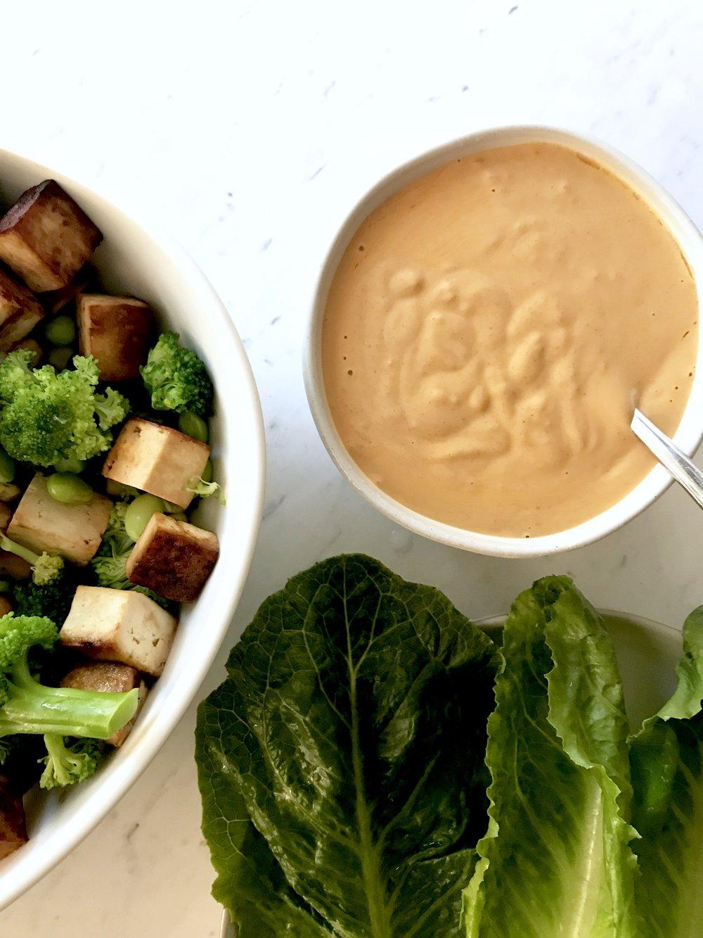 Tofu + Veggie Green Tacos