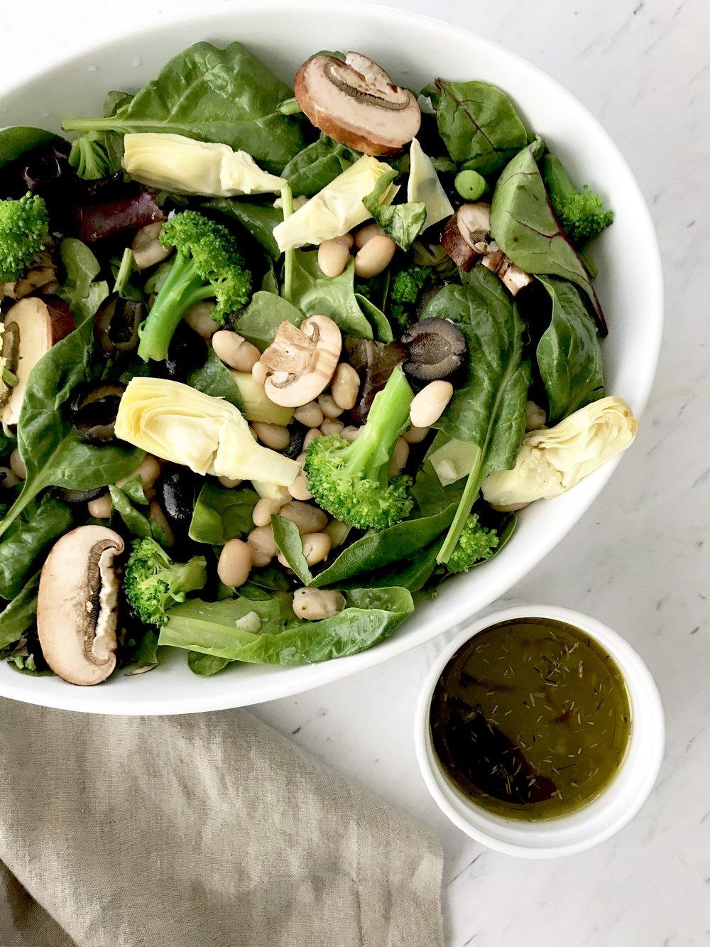 Artichoke Black Olive Salad with Herb Vinaigrette