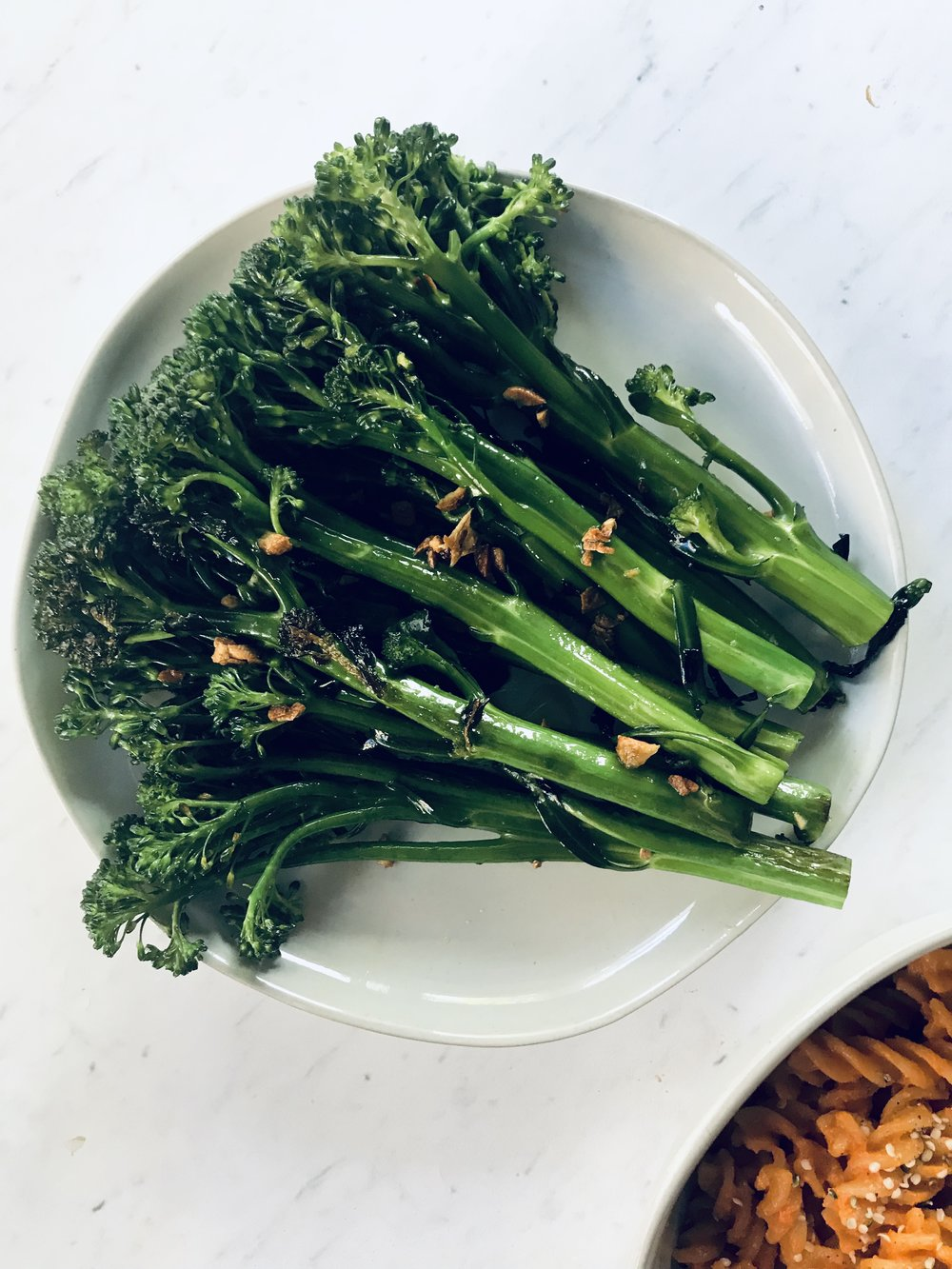 Red Chili Flake + Crispy Garlic Broccolini