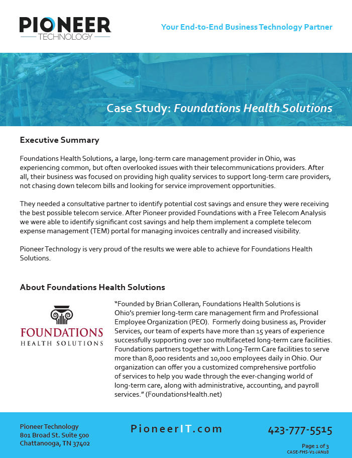 Foundations Health case study