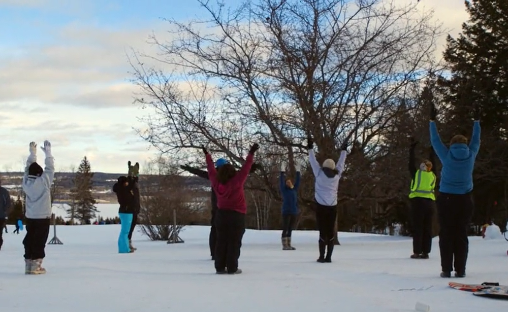 Snow Yoga -