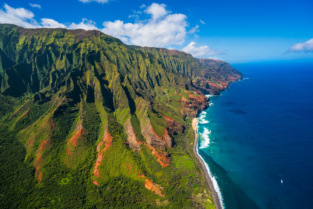 Photo by James Brandon.  The rugged Na Pali Coast. Just a whole lot of wow.
