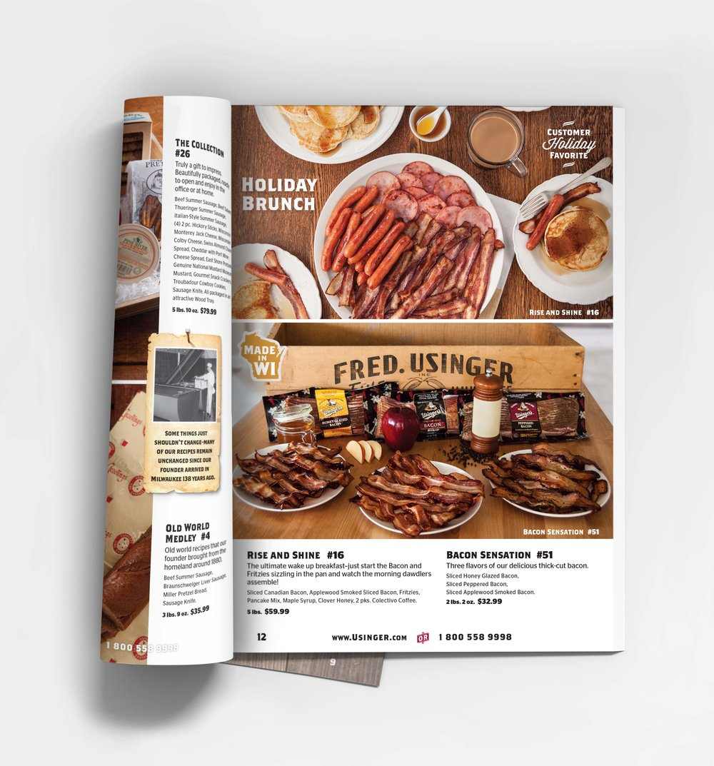 Usinger's Sausage  Catalog and Photography