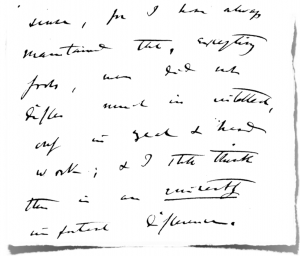 Letter from Charles Darwin to Francis Galton