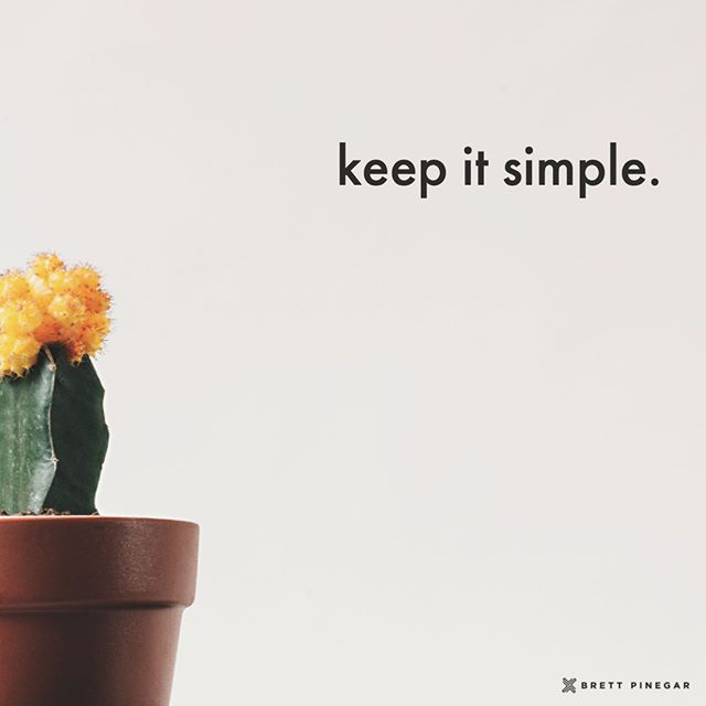 Keep it simple. You might not be able to do everything, but you can do everything important. Learn how to prioritize the individual tasks you have throughout the day-- that's the best way to be your best in all your different roles. . . #brettpinegar #simplicity #minimalism #prioritize