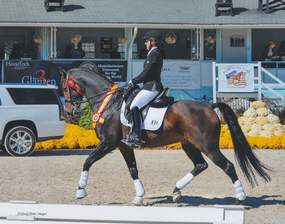 Maia and Benvica on their resrve champion victory lap at Dressage at Devon. (Photo by Hoofprint Images)