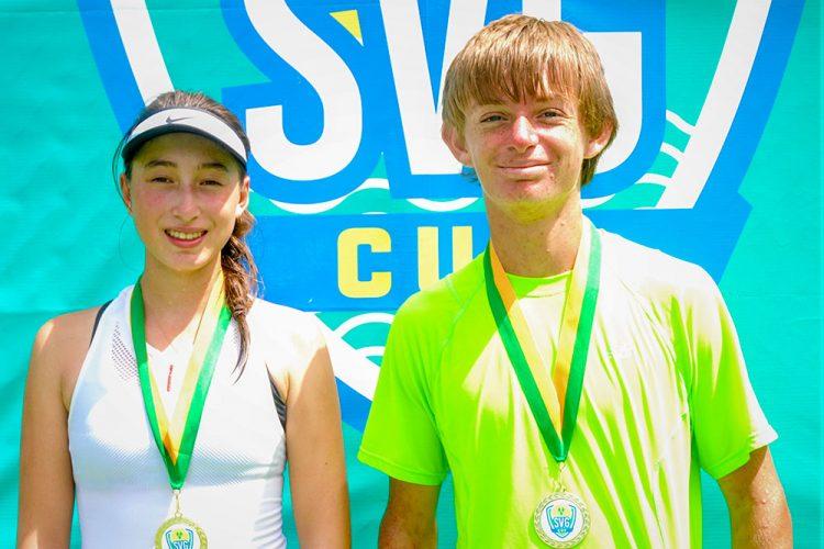 Singles winners - Daniella Benabraham (left) Griffin Daehnke (right)
