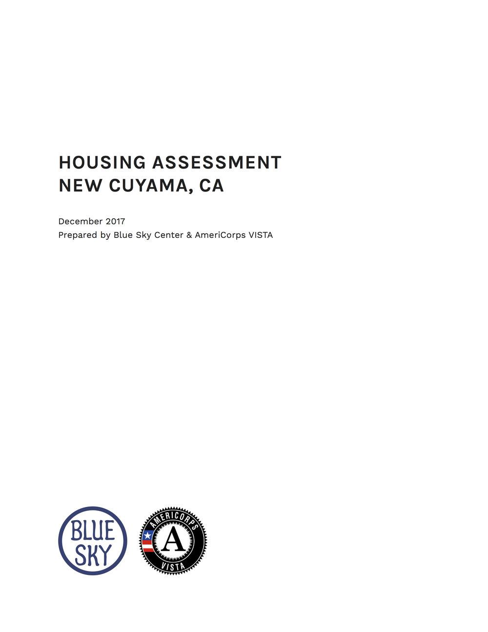 New Cuyama Housing Assessment