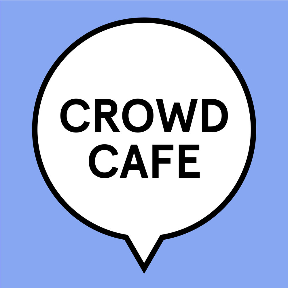 "A logo identity system created for a ""Crowd Cafe"" event hosted by BU Libraries. This is a digital humanities event which encourages crowd-based activities such as the Wikipedia-edit-athon. Librarians were able to place their own text in the speech bubbles as the events were changed."
