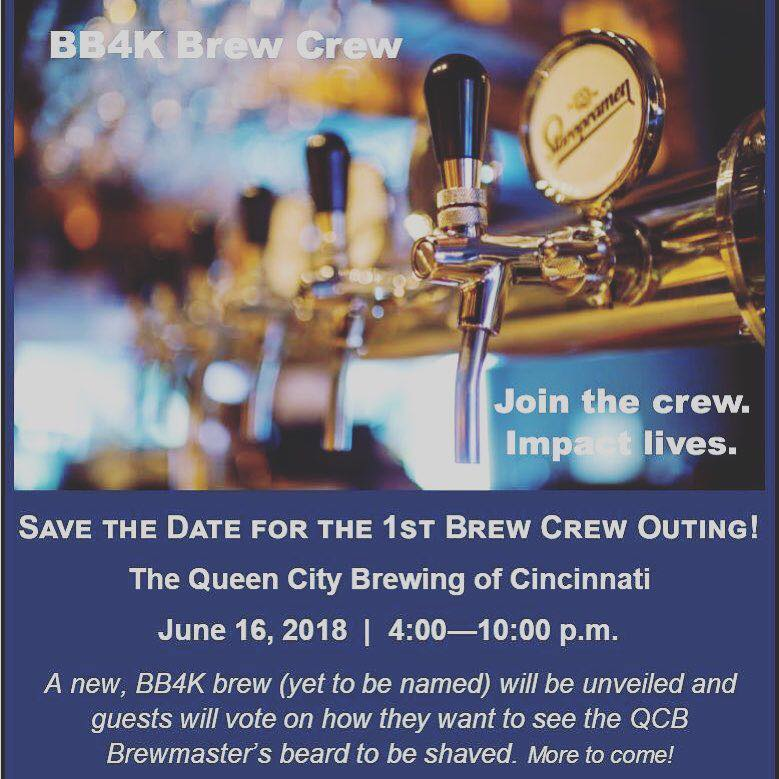 Building Blocks for Kids and BB4K Brew Crew has partnered with The Queen City Brewery of Cincinnati for an evening of fun, beer and helping kids!   Grab your friends and stop by between 4:00 - 10:00 on 6/16 to check out one of Cincinnati's local breweries and support a great cause. You won't want to miss these Brew Crew events:  -Tapping of the Special BB4K Brew -Brewer's Beard Makeover -Raffle for two people to be Brewmaster for the Day -Live Music -Cheese and Chong Food Truck