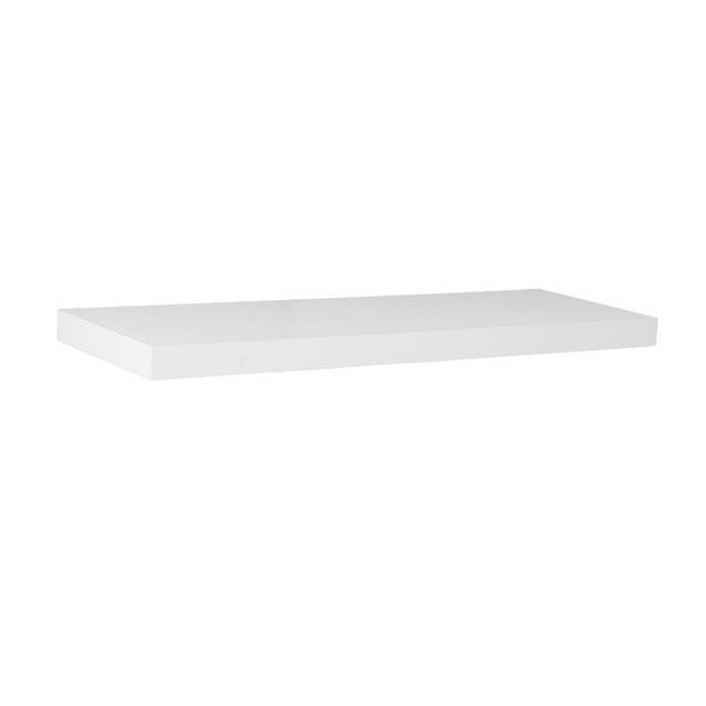 (Image credit: Home Depot )   Floating Shelf  : $16.78  Keep unsightly clutter off of those gorgeous countertops you splurged on with the help of these nifty floating shelves. Their sleek design will also liven up any bare walls you may still have upon moving.