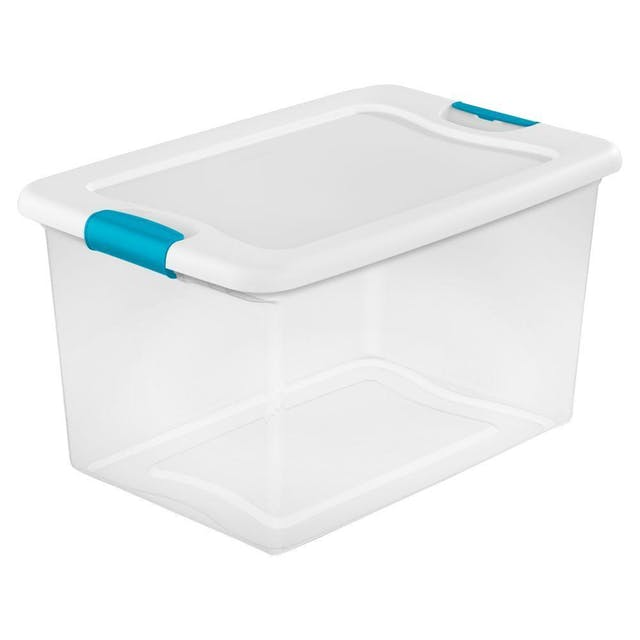 (Image credit: Home Depot )   Storage bins  : $7.97  Let's be honest: There are some things that, despite your best intentions, will not find their place in your new space. Be prepared to stow it away with these must-have storage totes. And don't worry, the containers are clear, so when you do get the urge to pull out that extra throw, you'll know exactly where it is.