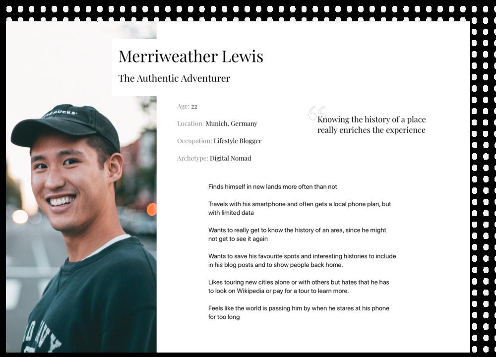 Merriweather User Persona