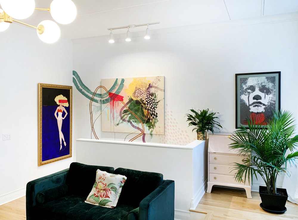 Most recent acrylic commission in Gold Coast home of Kira Cole.