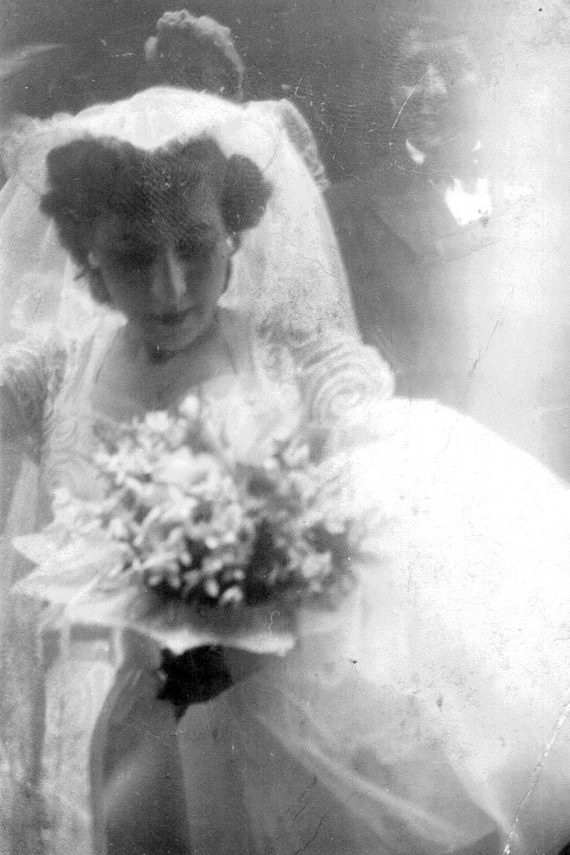 On her wedding day, William's love at St. Joachim's, Manhattan.